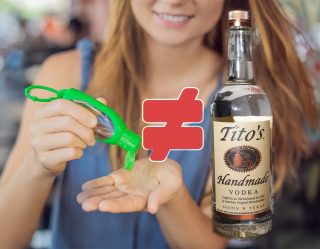 Titos hand sanitizer